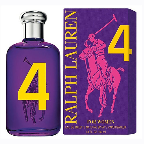 RALPH LAUREN POLO BIG PONY #4 PURPLE EDT 3.4 OZ W