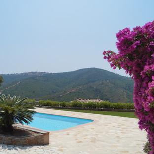 Aanleg terras zwembad, Les Issambres