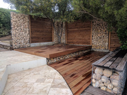 Terrasse IPE, Clôture bois, Gabion