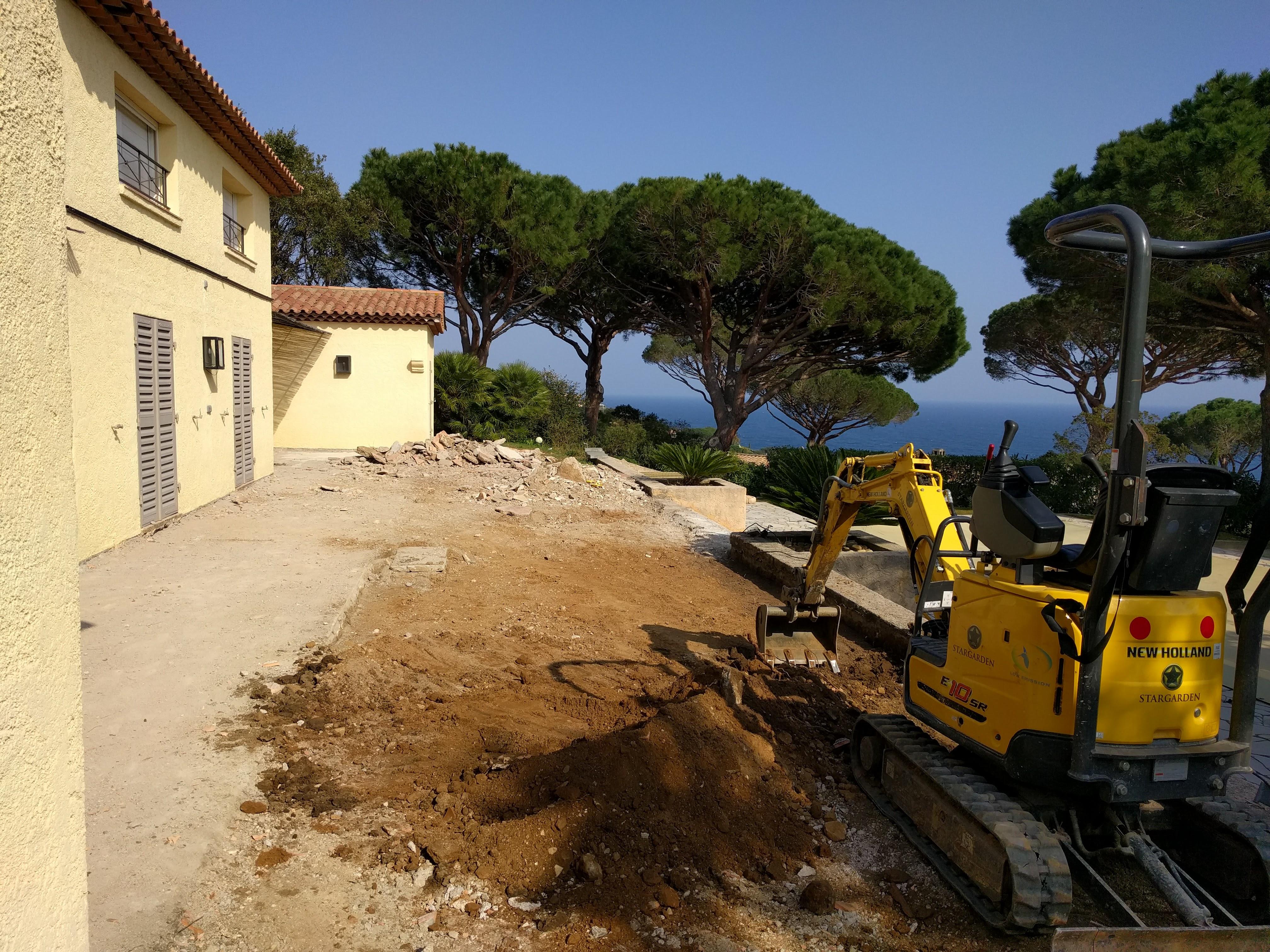 Aanleg tuin Sainte Maxime