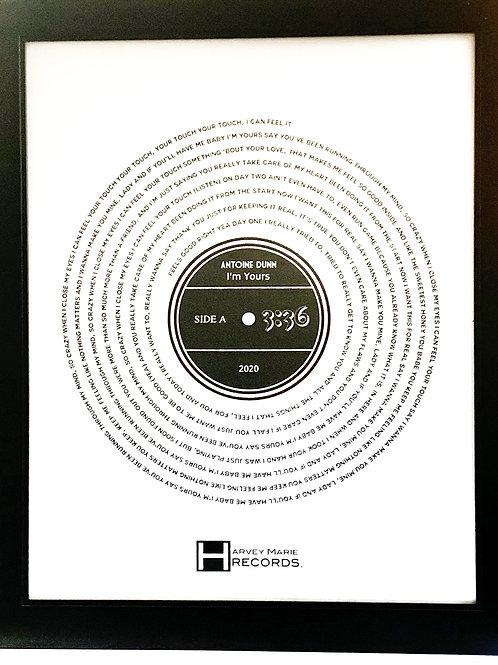 """I'm Yours"" - 11x17 Framed Poster"