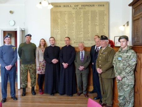 Rededication of the Uppingham Lower School World War 1 Roll of Honour and Memorial Board