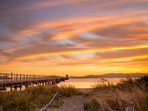 Petone Wharf and Beach at Sunset