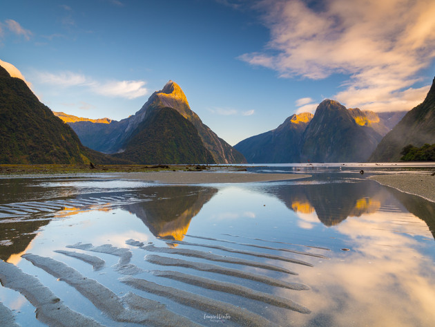 Sand Patters Milford Sound Sunrise