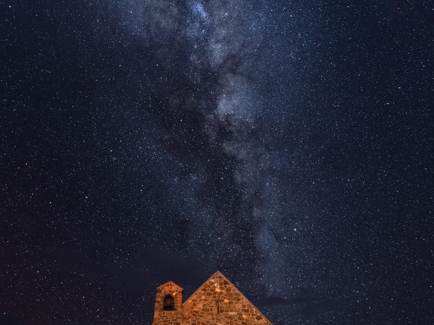 Stars over the Church of the Good Shepherd Lake Tekapo