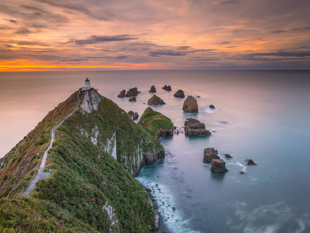 Soft Sunrise at Nugget Point in the Catlins