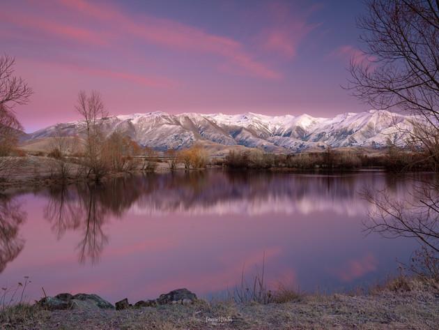 Pink Skies over Lake Poaka