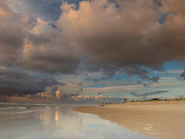Moody Gold Coast Beach Reflections near the Broadwater