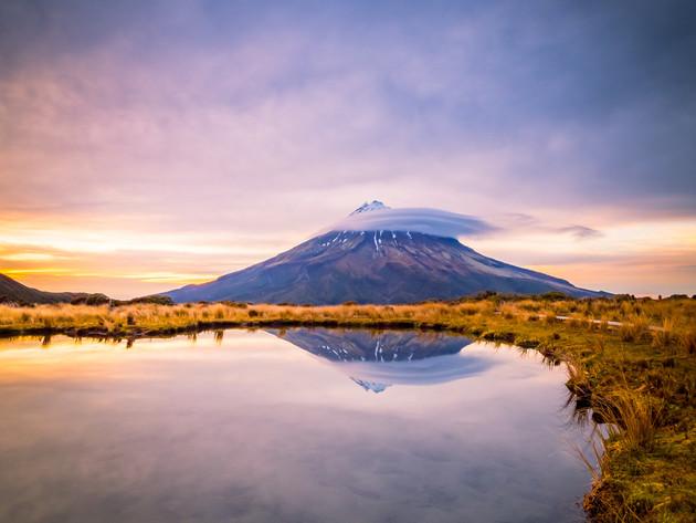 Mt Taranaki Sunrise Pouakai Tarn