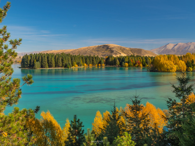 Lake Ruataniwha Twizel in Autumn