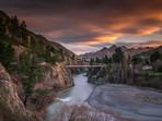 Sunset Hanmer Springs
