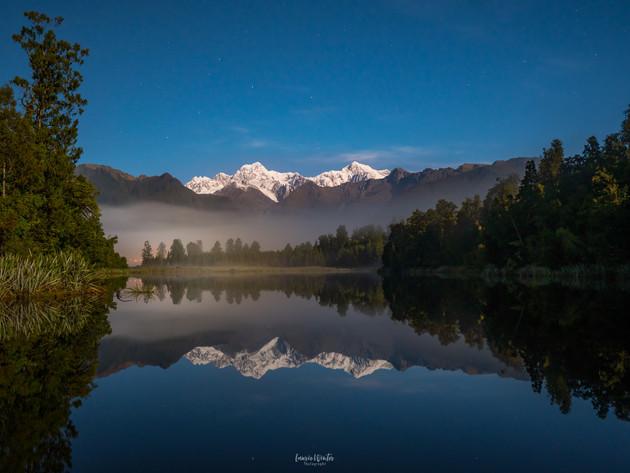 Lake Matheson by Moonlight