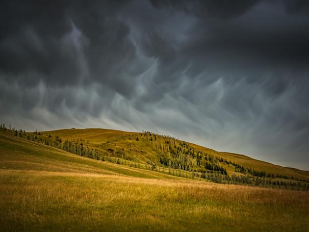 Moody Clouds Near Fjaðrárgljúfur Canyon Iceland
