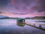 Sunrise at Hoopers Inlet Boatshed Dunedin