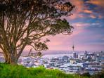 Auckland sunset from Mt Eden