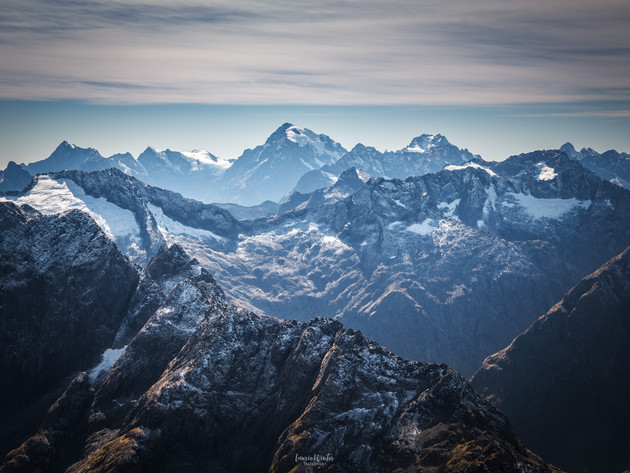 Fiordland Mountains in Winter