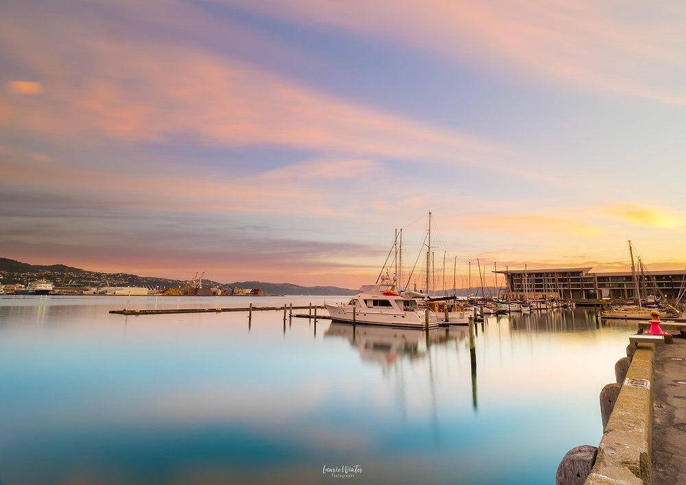 Sunrise at Chaffers Marina in Wellington