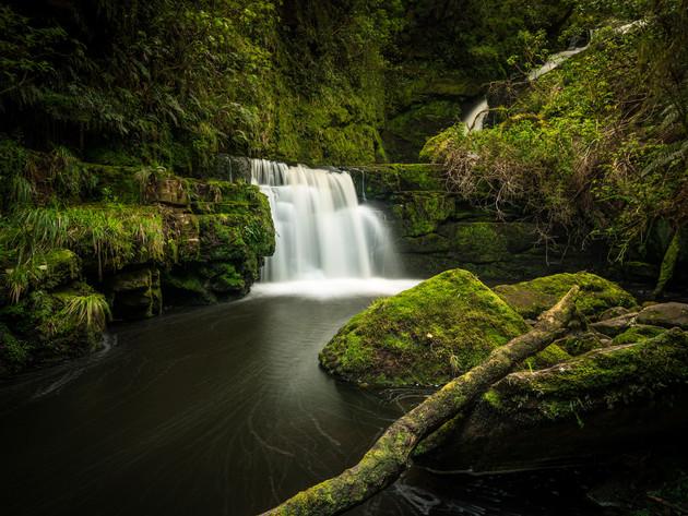 Lower McLean Falls in Catlins NZ