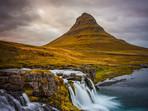 Kirkjufell Mountain and Waterfall, West Iceland