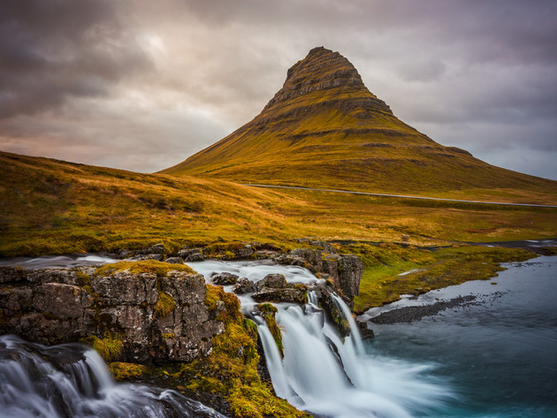 Kirkjufell Mountain and Waterfall, West Iceland