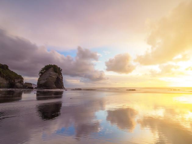 Sunset at Tongoporutu Beach