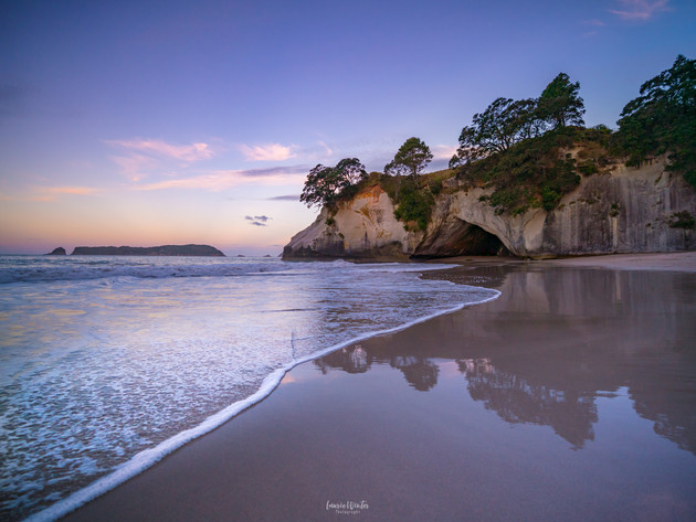 Cathedral Cove Sunset