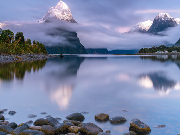 Mitre Peak Snow Milford Sound