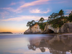 Sunset at Cathedral Cove