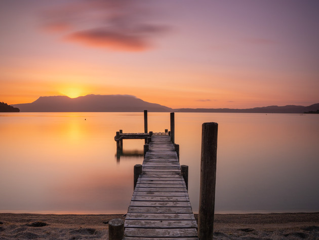 Lake Tarawera Pink Sunrise