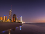 Starlight becomes Sunrise at Surfers Paradise on the Gold Coast