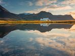 Sunrise at a Lake Near Arnarstapi Iceland