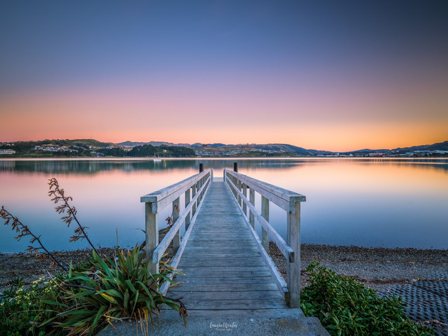 Porirua Harbour Jetty Sunset