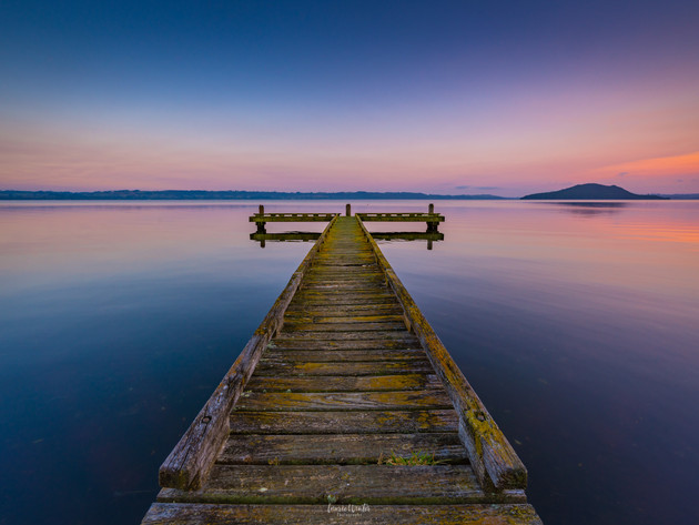 Sunrise at Kawaha Point Jetty Rotorua