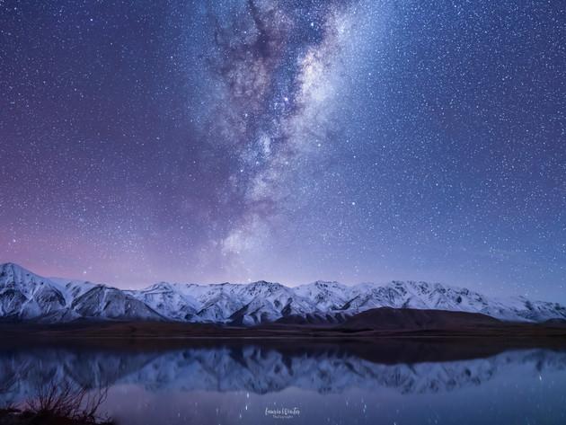 Ashburton Lakes Milky Way