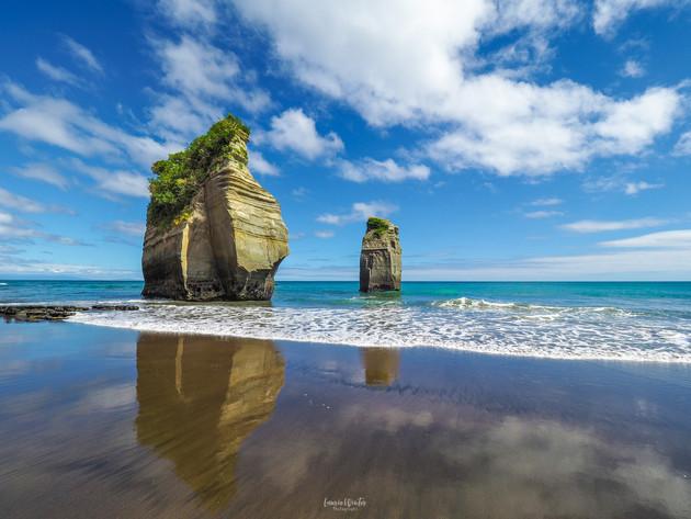 The Three Sisters Tongaporutu Beach