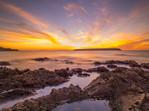 Sunset over Mana Island from Titahi Bay