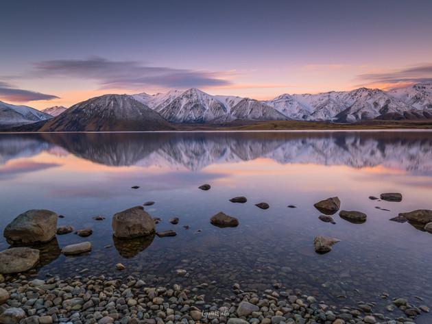 Sunset Lake Heron Canterbury