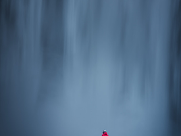 Appreciating the size of Skógafoss