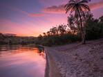 Bright Sunset Lake Tarawera