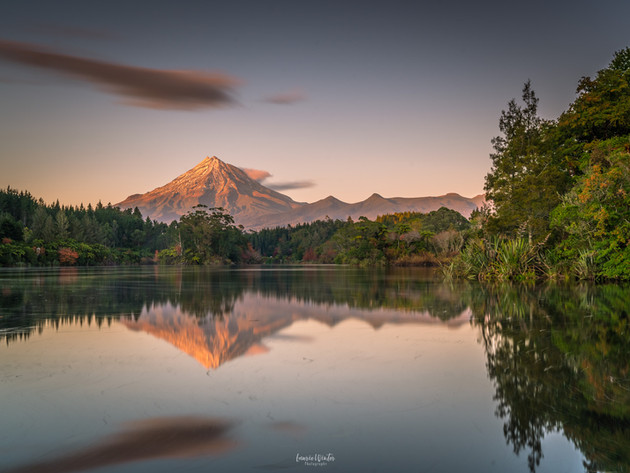 Golden Sunrise at Lake Mangamahoe
