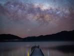 Stars over the Lake Hauroko Jetty