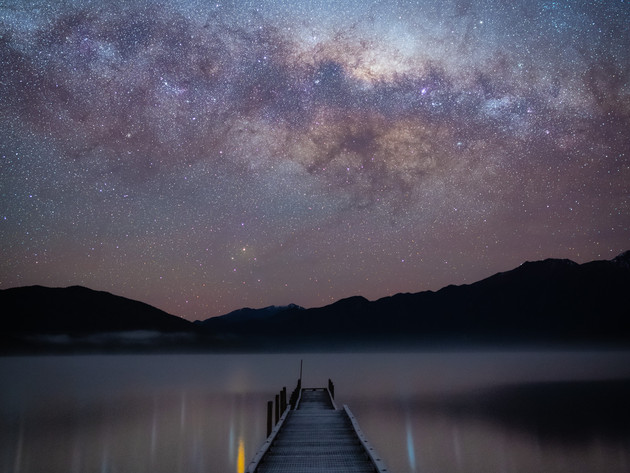 Stars over the Lake Hauroko Jetty