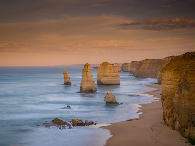 Morning Views of the Twelve Apostles in Australia