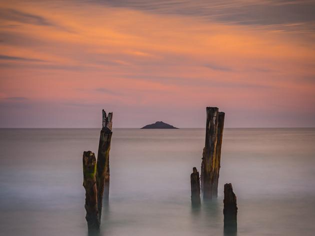 Sunset St Clair Pier Dunedin