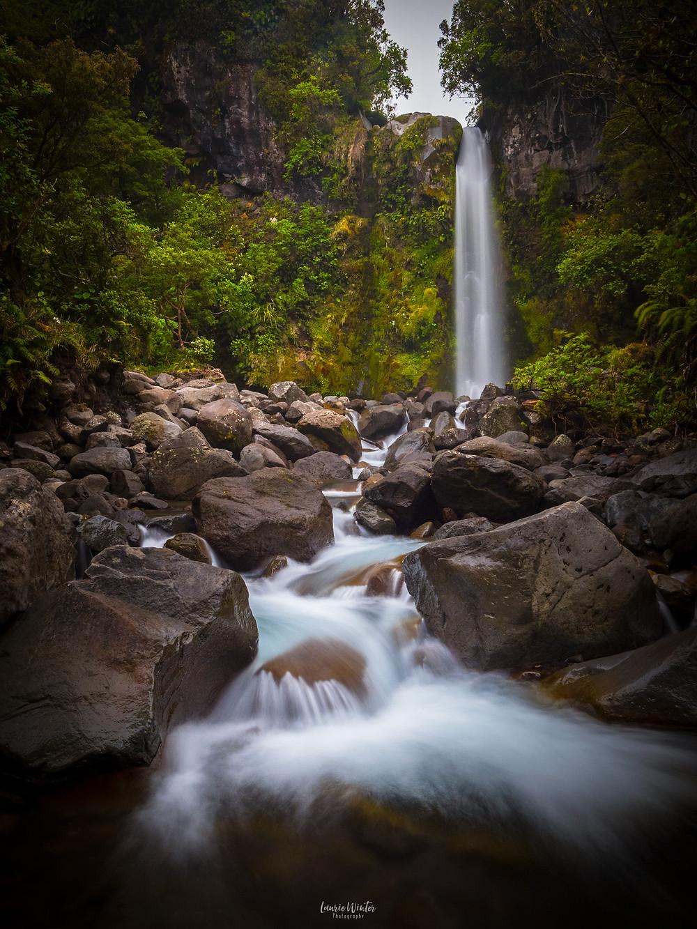 Dawson Falls and river rapids Mt Taranaki