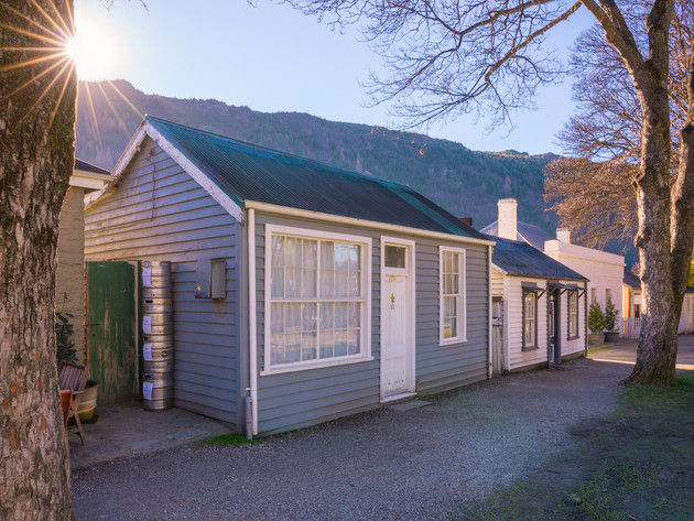 Arrowtown Houses at Sunset