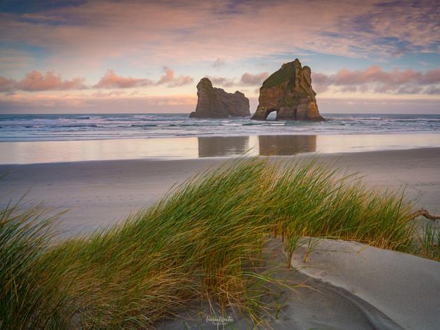 Wharariki Beach Dunes Sunrise