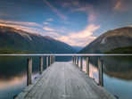 Sunset at Lake Rotoiti Jetty