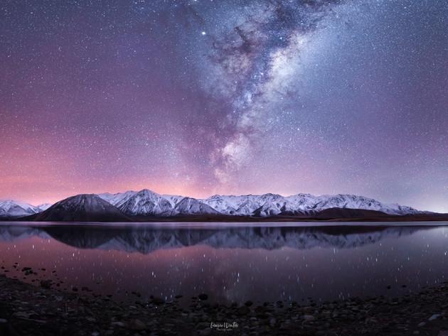 Milky Way over Lake Heron