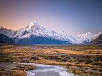 Tasman River Mt Cook Sunset